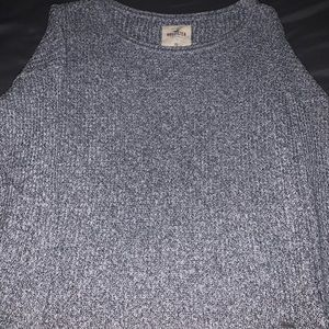 Grey Fitted Hollister Sweater